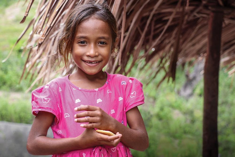 Little girl from Timor Leste